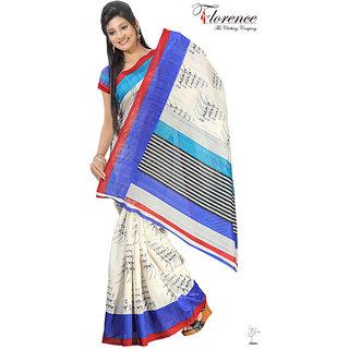 Aaina Multi Printed Bhagalpuri Silk Saree (FL-1339-B)
