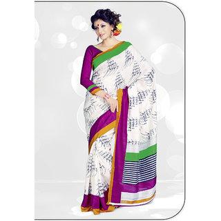 Aaina Multi Printed Bhagalpuri Silk Saree (FL-1339-A)