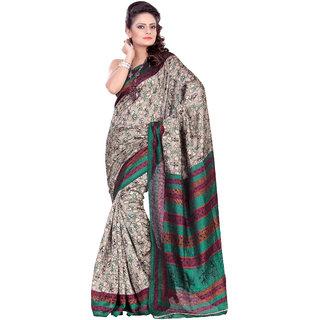 Aaina Multi Printed Bhagalpuri Silk Saree (FL-1294-C)