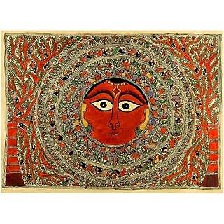 Redbag Mother Goddess - Madhubani Painting
