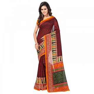 Sareemall Multicolor Silk Printed Saree With Blouse