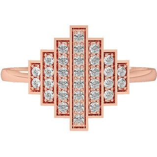 Real Diamonds and Hallmarked 18kt Rose Gold Ring LA-22ROSEGOLD18KT