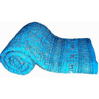 Marwal Rajasthan Jaipuri Ethinic Printed Double Bed Quilt / Razai