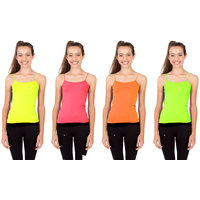 Combo - Neon Kids Camisole ( Pink/Yellow/Green/Orange )