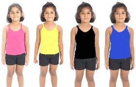 Ashish Fabrics Combo - 4 Cami Slips ( Multicolor )