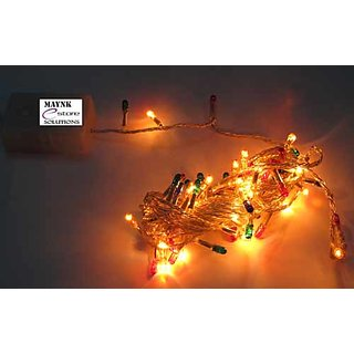 MJR 4 Pcs Decorative Multi Coloured Rice Rope Light with Remote  for Party Diwali