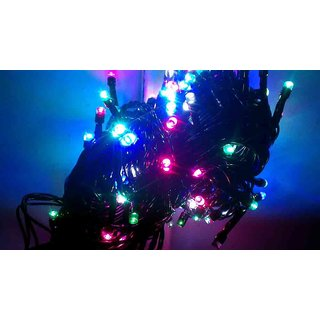 MJR 2 Pcs Decorative Multi Coloured Rice Rope Light with Remote 8 functions for Diwali