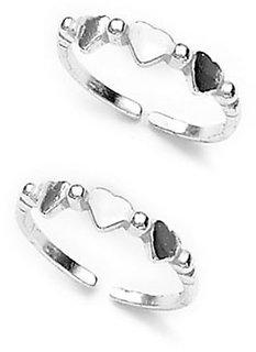 Classy Heart Silver Toe Ring-TR95