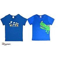 T shirt Combo 2 blue t shirts for boys