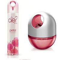 Godrej Aer Home Spray (300ml) + Aer Twist (60ml) Petal Crush Pink Diffuser Air F