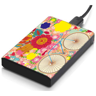 meSleep Bicycle Floral Hard Drive Skin