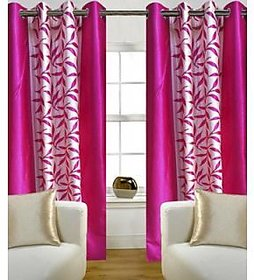 iLiv Pink Kolveri Flower Curtain - 7Ft