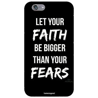 Homesogood Let Faith Be Bigger Multicolor Case For iPhone 6 (Back Cover)