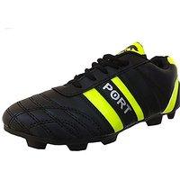 Port Mens Black Football Shoes