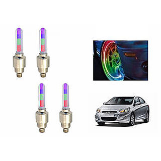 Speedy Tyre Led Motion Sensor RGB Set Of 4 - Hyundai Verna Fluidic