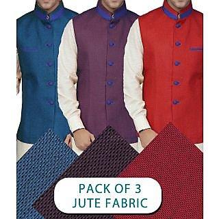 SAALE MAHA SALE MODI JACAKET CLOTH 3PIECE COMBO