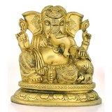 Redbag Brass Siddhi Vinayak Blessing Ganpati Figure Vighnaharta Ganesha Statue 3