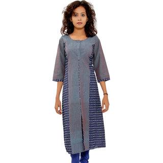 Shop Rajasthan Self Design Multicolor 3/4 Sleeve Womens Cotton Kurti (SRE2194)