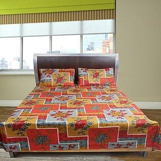 Shoppeholics Cotton Floral Double Bedsheet Sh-35