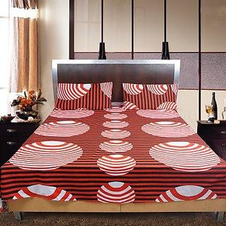 Shoppeholics Cotton Polka Double Bedsheet Sh-36