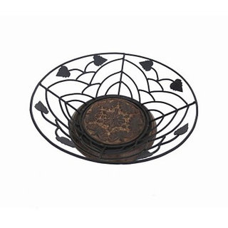 Onlineshoppee Wooden & Iron Fruit and Flower Basket Without Handle