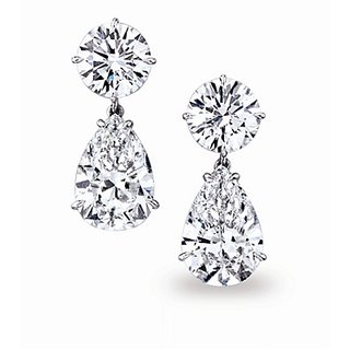 18 Kt Gold Fashionable Exclusive Solitaire Diamond Earring For Wedding Jewelry (Design 11)