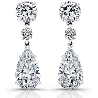 18 Kt Gold Fashionable Exclusive Solitaire Diamond Earring For Wedding Jewelry (Design 5)
