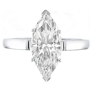 18 Kt White Gold Fashionable Solitiare Diamond Ring For Wedding (Design 16)