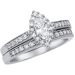 18 Kt White Gold Fashionable Solitiare Diamond Ring For Wedding (Design 4)