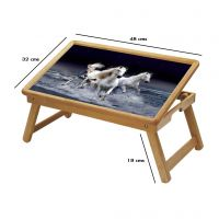 Horse Multipurpose Foldable Wooden Study Table For Kids - Study 021