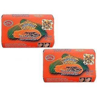 Asantee Papaya Herbal Skin Whitening Thai Soap Pack Of 2
