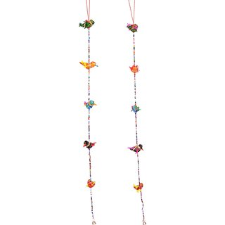 Handmade fabric bird hanging