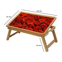Red Rose Multipurpose Foldable Wooden Study Table For Kids - Study 079