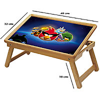 Angry Birds Multipurpose Foldable Wooden Study Table For Kids - Study 305