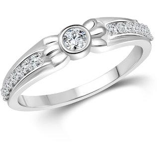 Vighnaharta Glory (CZ) Rhodium Plated  Ring