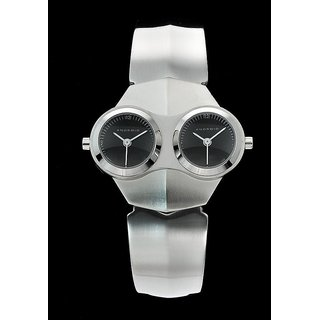 Android Alien AD52BK 38MM Analog Twin Black Dials Men's S.Steel Band Watch