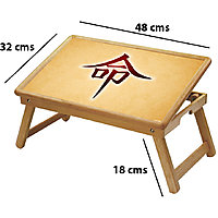 Ethnic Multipurpose Foldable Wooden Study Table For Kids - Study 445