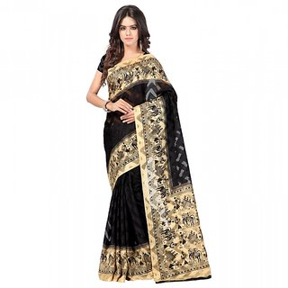 Sareemall Multicolor Brasso Printed Saree With Blouse