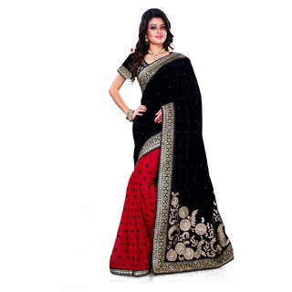 GEETA SILK MILLS Gleaming DAILY WEAR BLACK SILK SAREE
