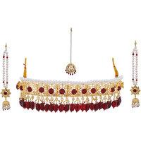 Nisa Pearls Grand Nizam Chokar Necklace Set For Women