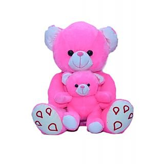 Joey Toys Mother Child Teddy - 16.5 Inch (Pink)