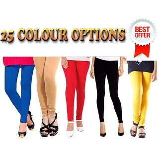 Assorted Lycra Leggings combo of 2 - 25 Colour option