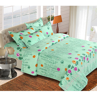 The Chaddar Small Flowers with Double bedsheet & two pillow covers