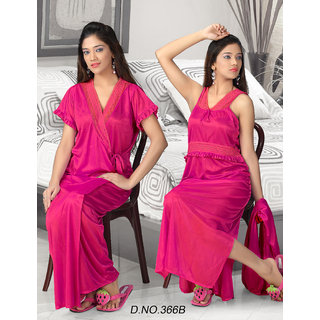 Sexy Night Set 2p Nighty   Overcoat Hot Bed room Sleep Wear Honeymoon 366B  Pink Prices in India- Shopclues- Online Shopping Store 9abb05e14