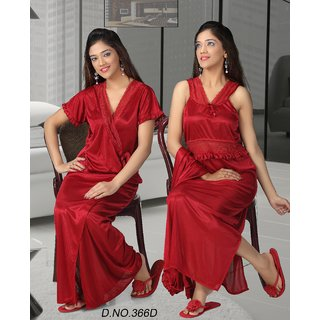 Sexy Night Set 2p Nighty   Overcoat Hot Bed room Sleep Wear Valentine 366D  Maron Prices in India- Shopclues- Online Shopping Store b5cd7c6e3
