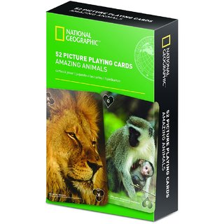 National Geographic 52 Picture Playing Cards - Amazing Animals