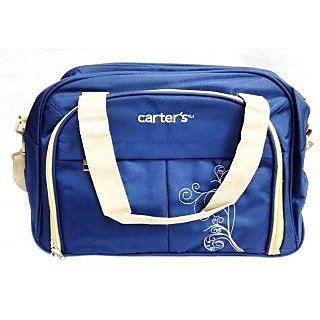WonderKart Carters Multi Purpose Premium Diaper Shoulder Bag - Dark Blue