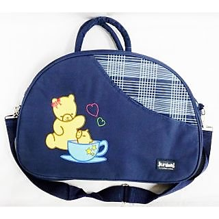 WonderKart Juniors Multi Purpose Premium Diaper Shoulder Bag - Dark Blue