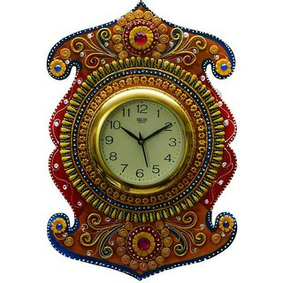 Shiva arts paper mache Wall Clock