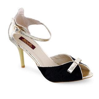 Shuz Touch Black Sandal (LF-I-318-8-BLACK)